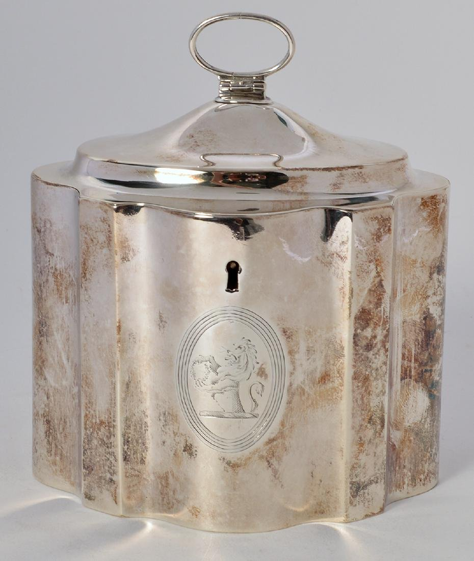 Early Sterling Silver Tea Caddy