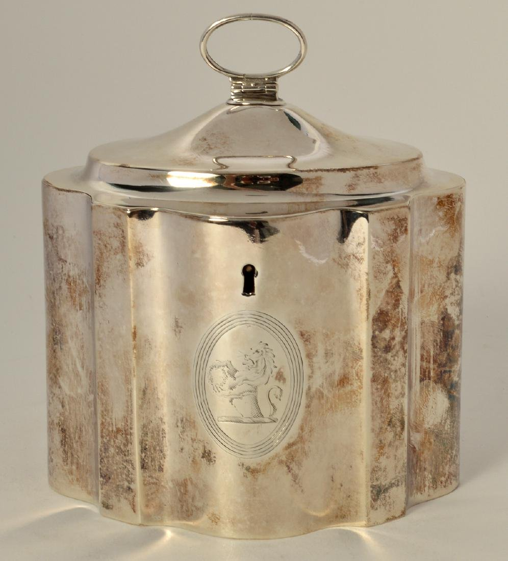 Early Sterling Silver Tea Caddy - 2
