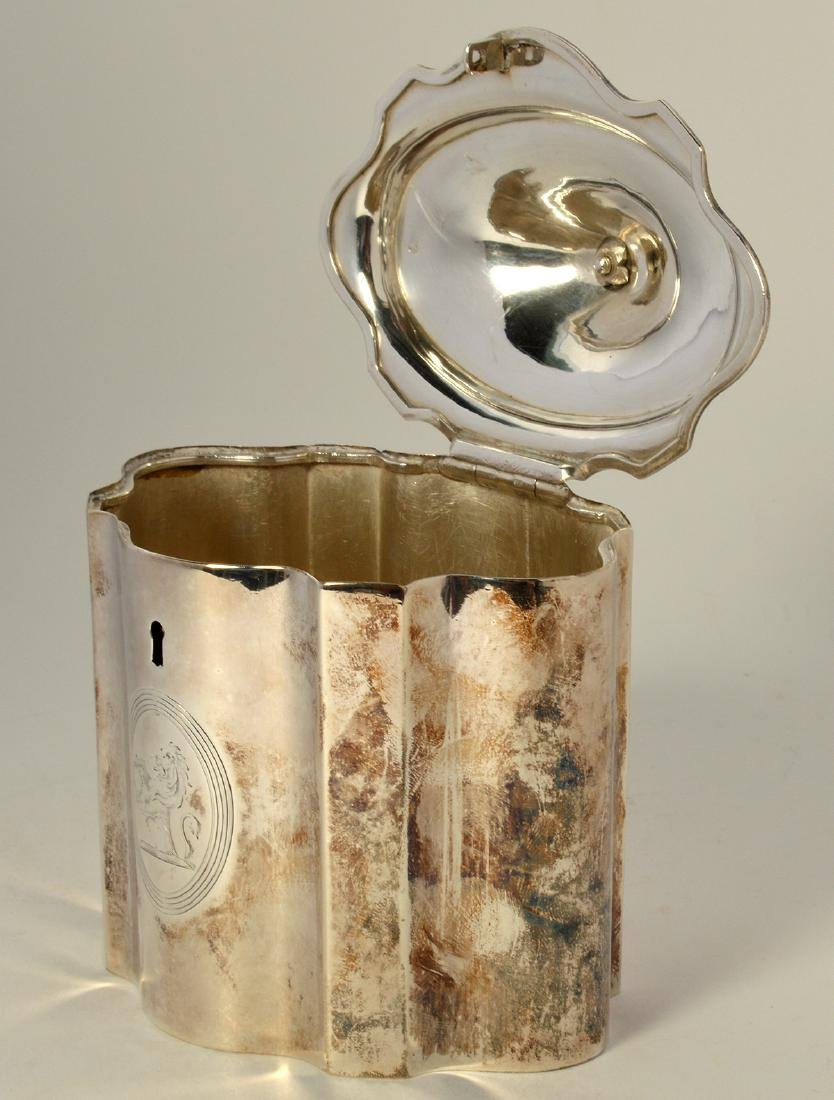 Early Sterling Silver Tea Caddy - 4