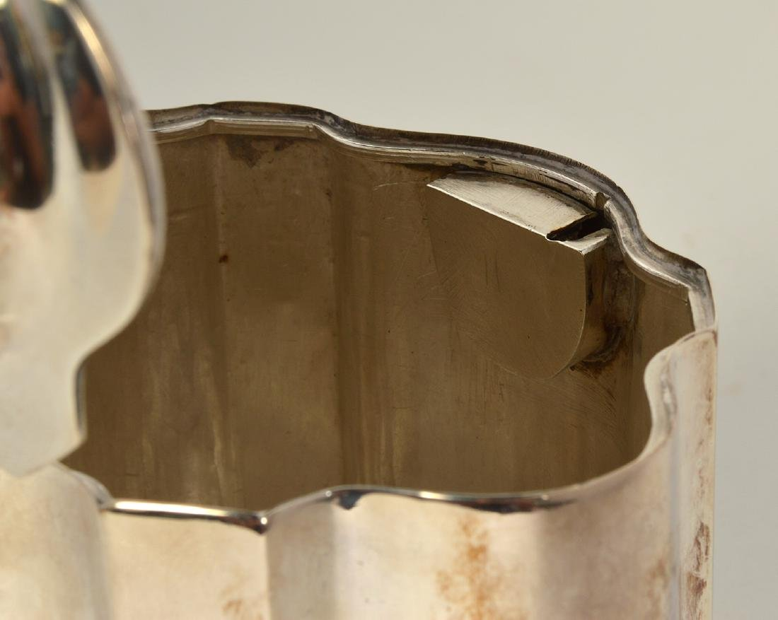Early Sterling Silver Tea Caddy - 6