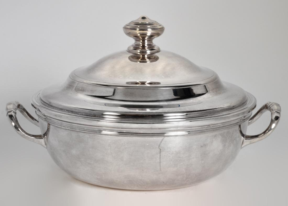 Christofle Silverplate 'Albi' Soup Tureen W/ Lid