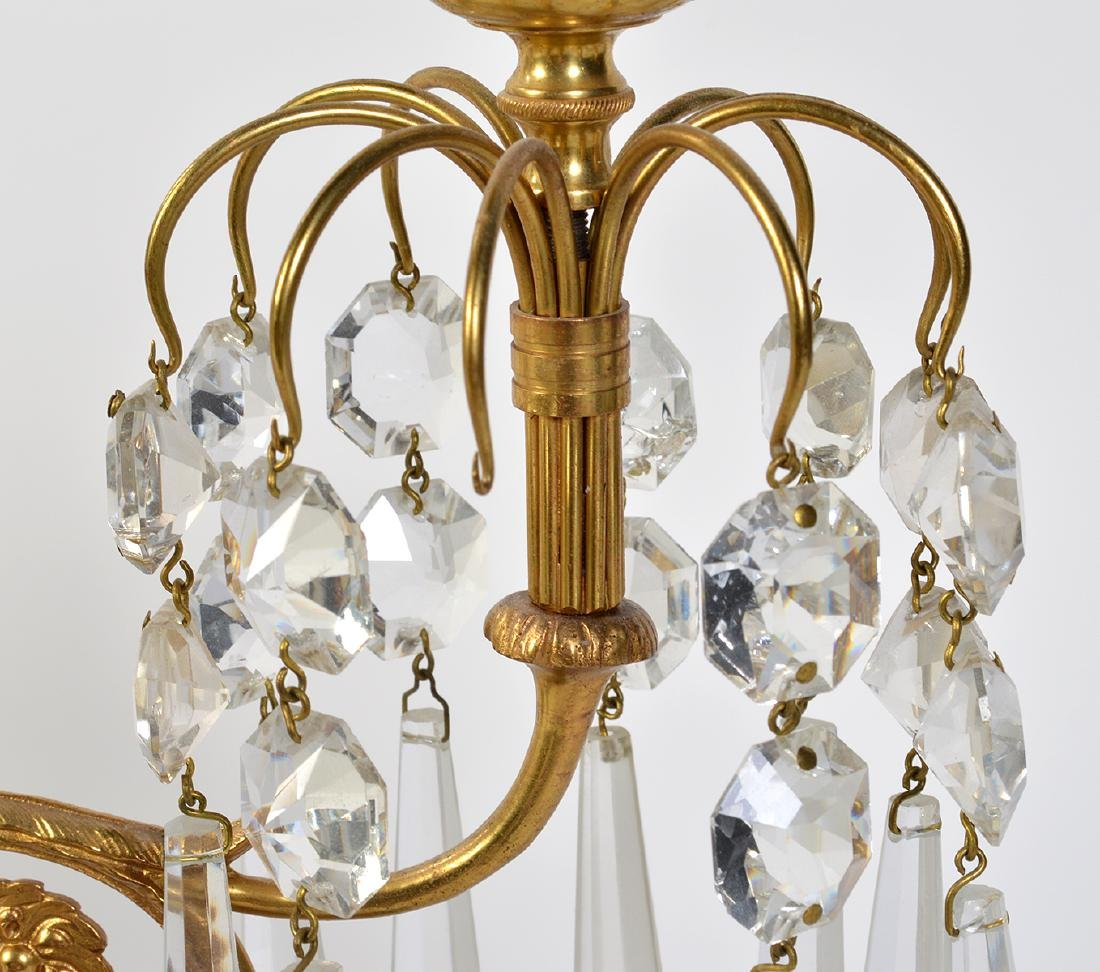 Pr. Malachite, Crystal & Bronze Candelabras - 7