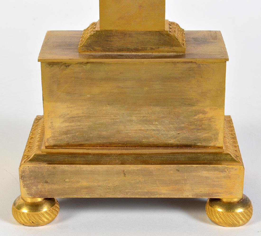 Empire Style Gilt Bronze Lyre Mantel Clock - 8