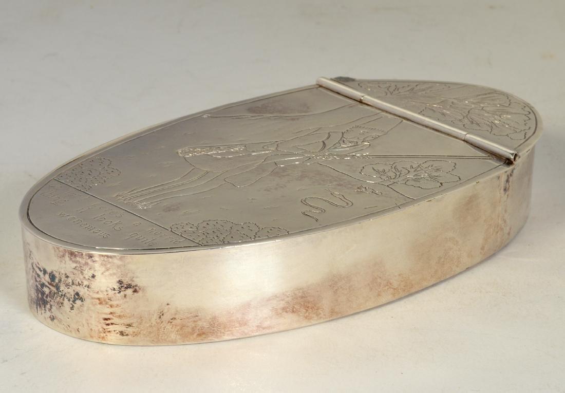 English Silver Lidded Box - 2