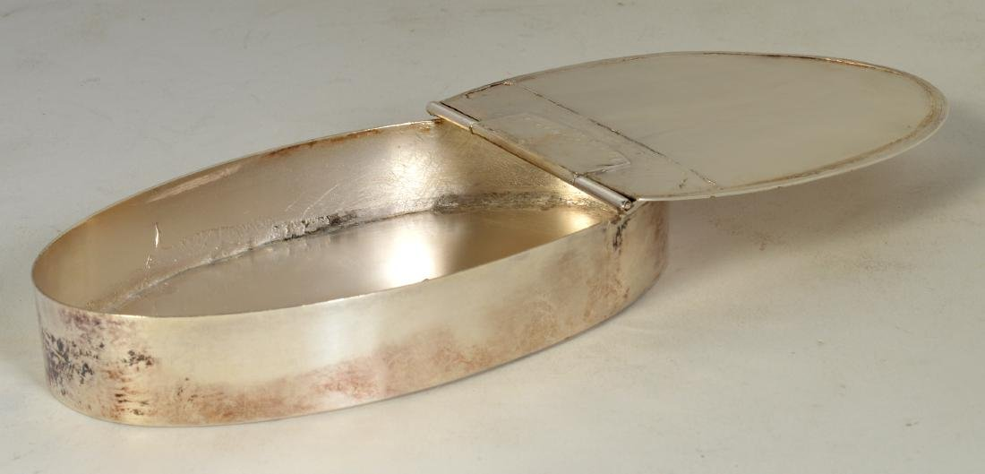 English Silver Lidded Box - 3