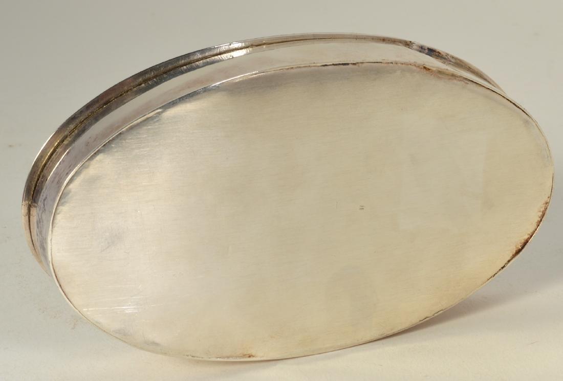 English Silver Lidded Box - 5