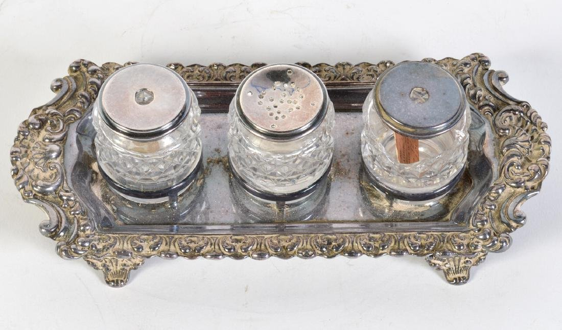 English Victorian Sterling Hallmarked Inkstand - 10