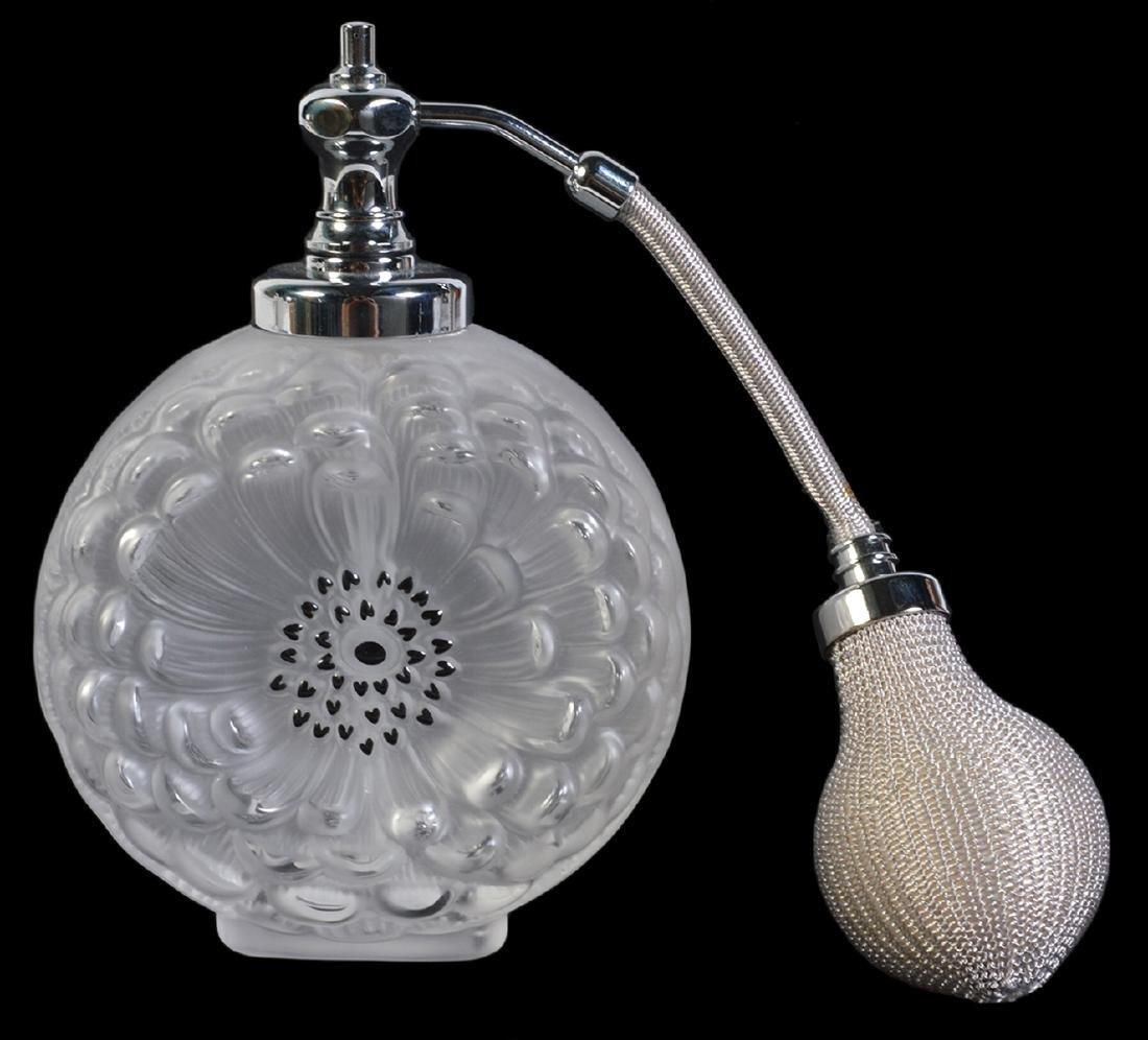 Lalique Dahlia Perfume Bottle W/ Atomizer