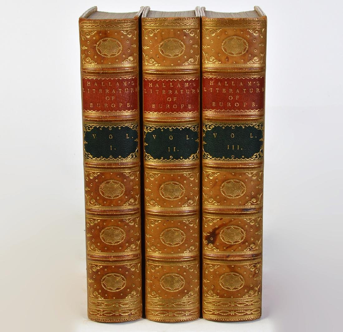"""3 Volumes by Henry Hallam """"Literature of Europe"""""""
