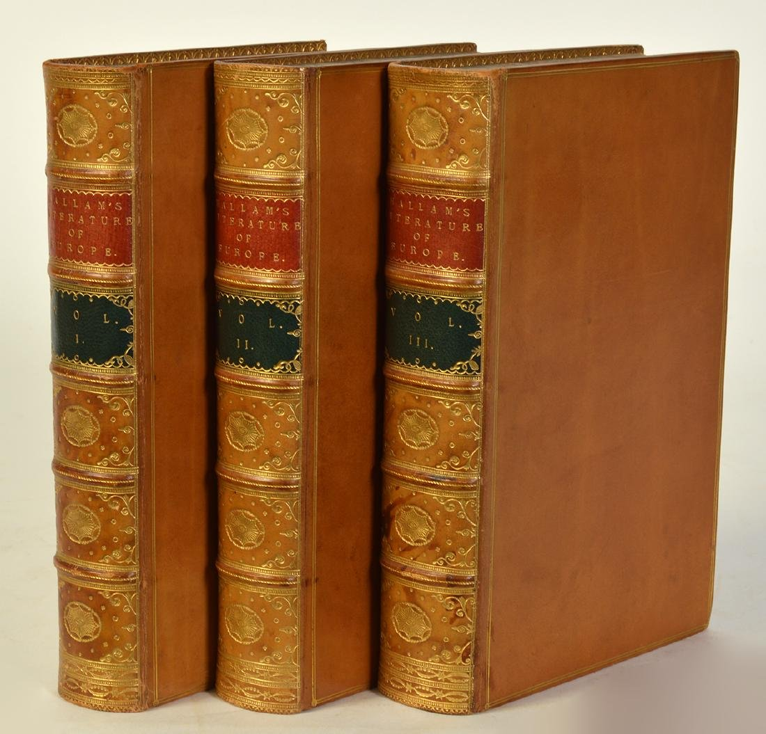 """3 Volumes by Henry Hallam """"Literature of Europe"""" - 2"""