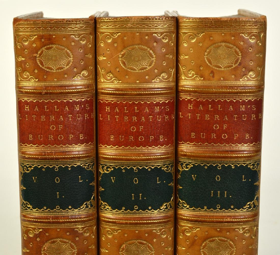 """3 Volumes by Henry Hallam """"Literature of Europe"""" - 3"""