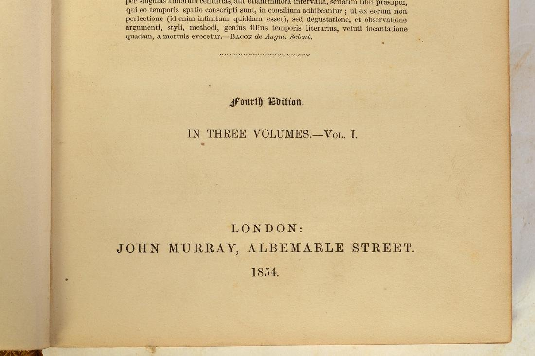 """3 Volumes by Henry Hallam """"Literature of Europe"""" - 5"""