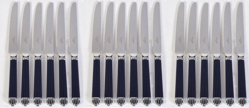 18 Christofle Paris Aria Bleu Dinner Knives