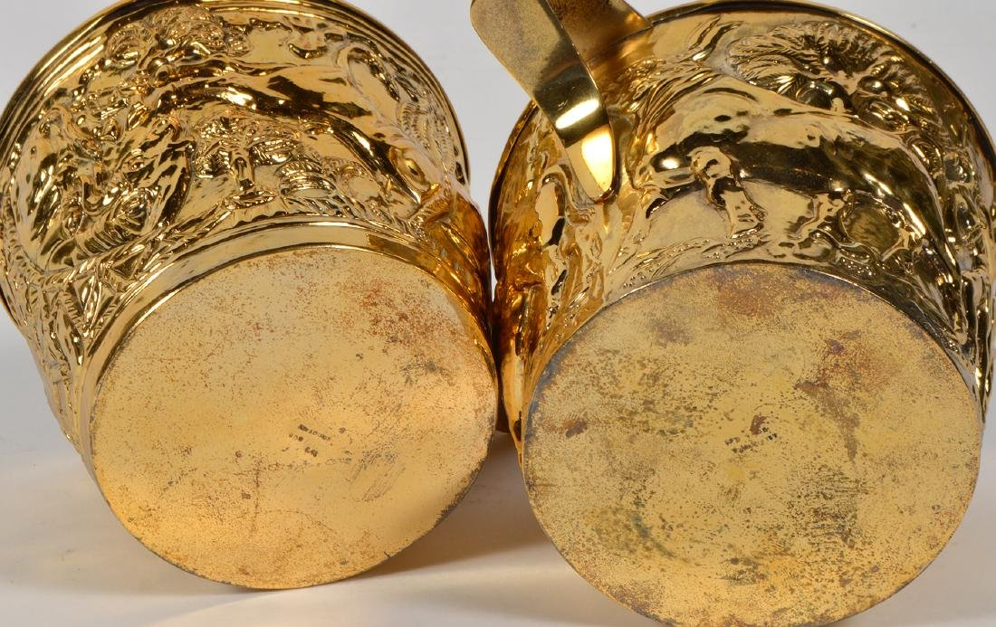 Pair of Greek Gilt Sterling Lalaounis Cups - 8