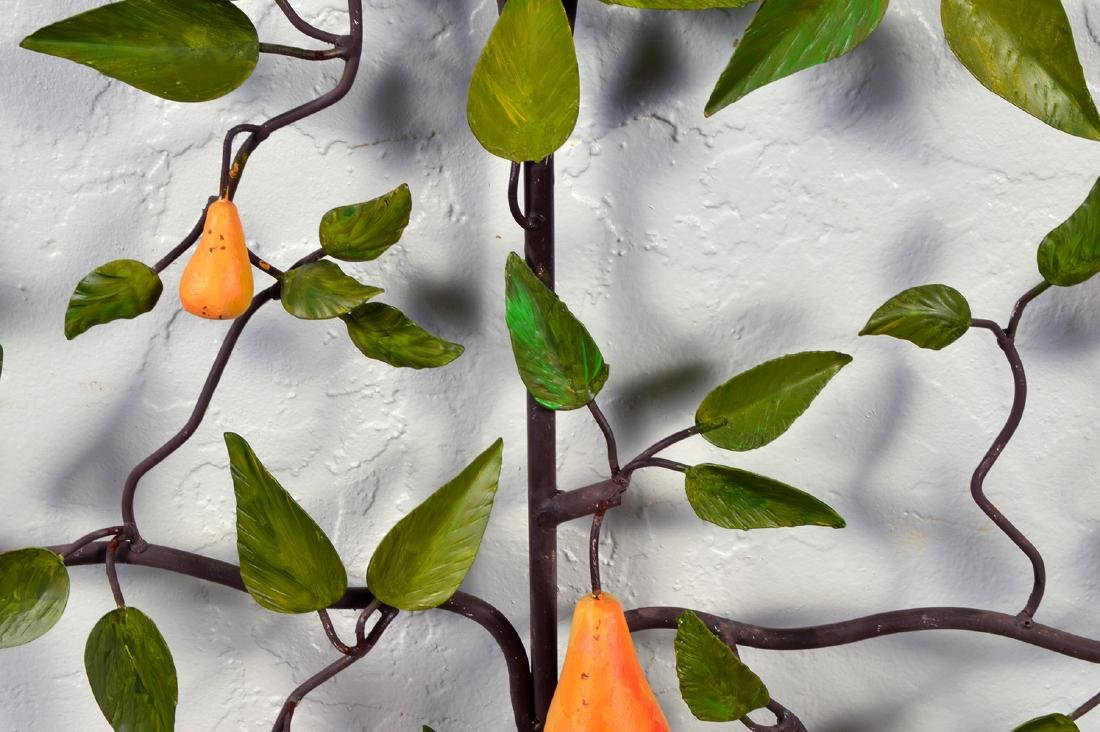 20th C. Painted Tole Pear Tree - 5