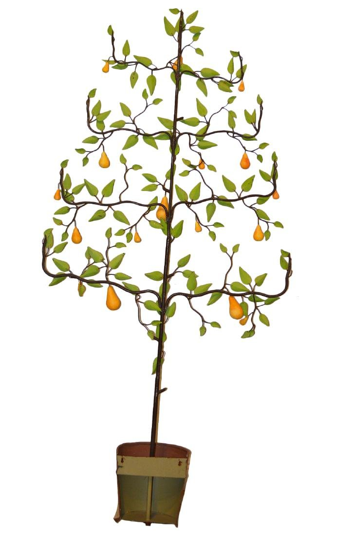 20th C. Painted Tole Pear Tree - 7