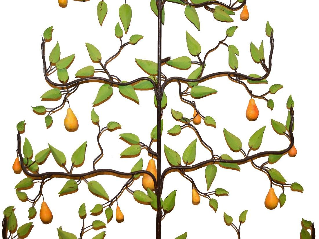 20th C. Painted Tole Pear Tree - 9