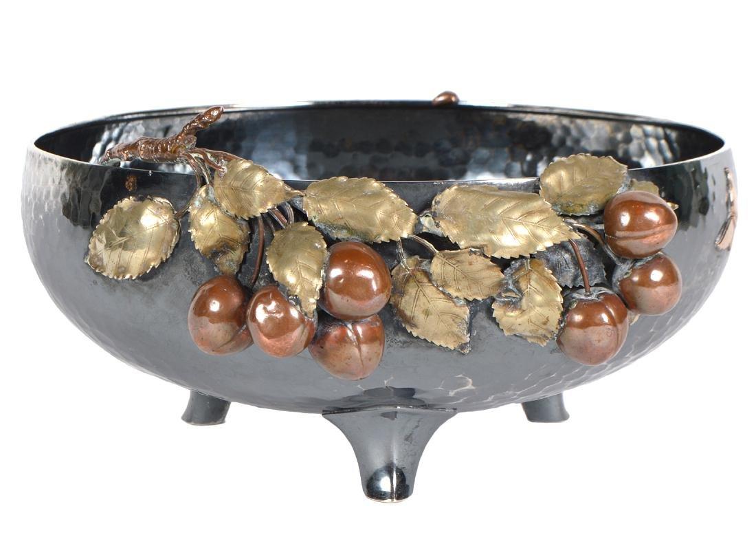 Gorham Sterling & Copper Hand Hammered Bowl