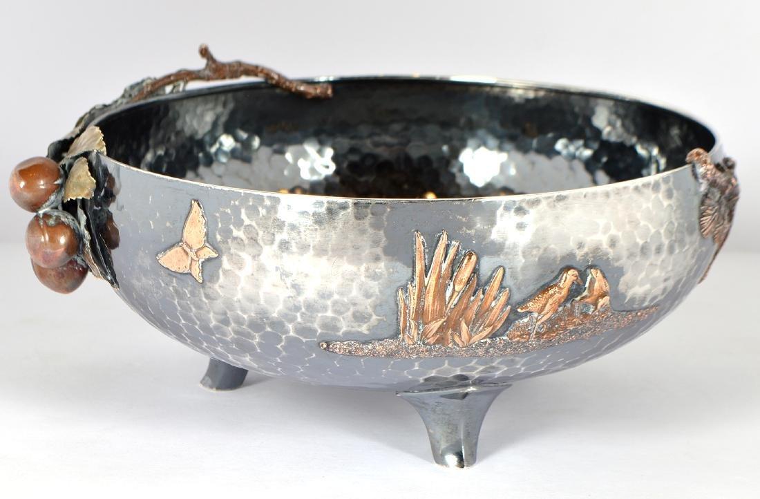 Gorham Sterling & Copper Hand Hammered Bowl - 2