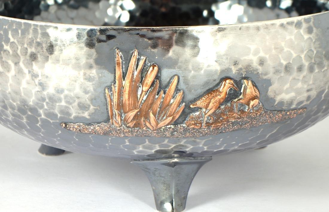 Gorham Sterling & Copper Hand Hammered Bowl - 3