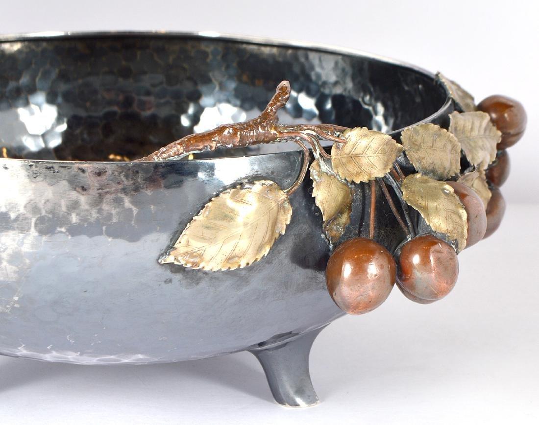 Gorham Sterling & Copper Hand Hammered Bowl - 8