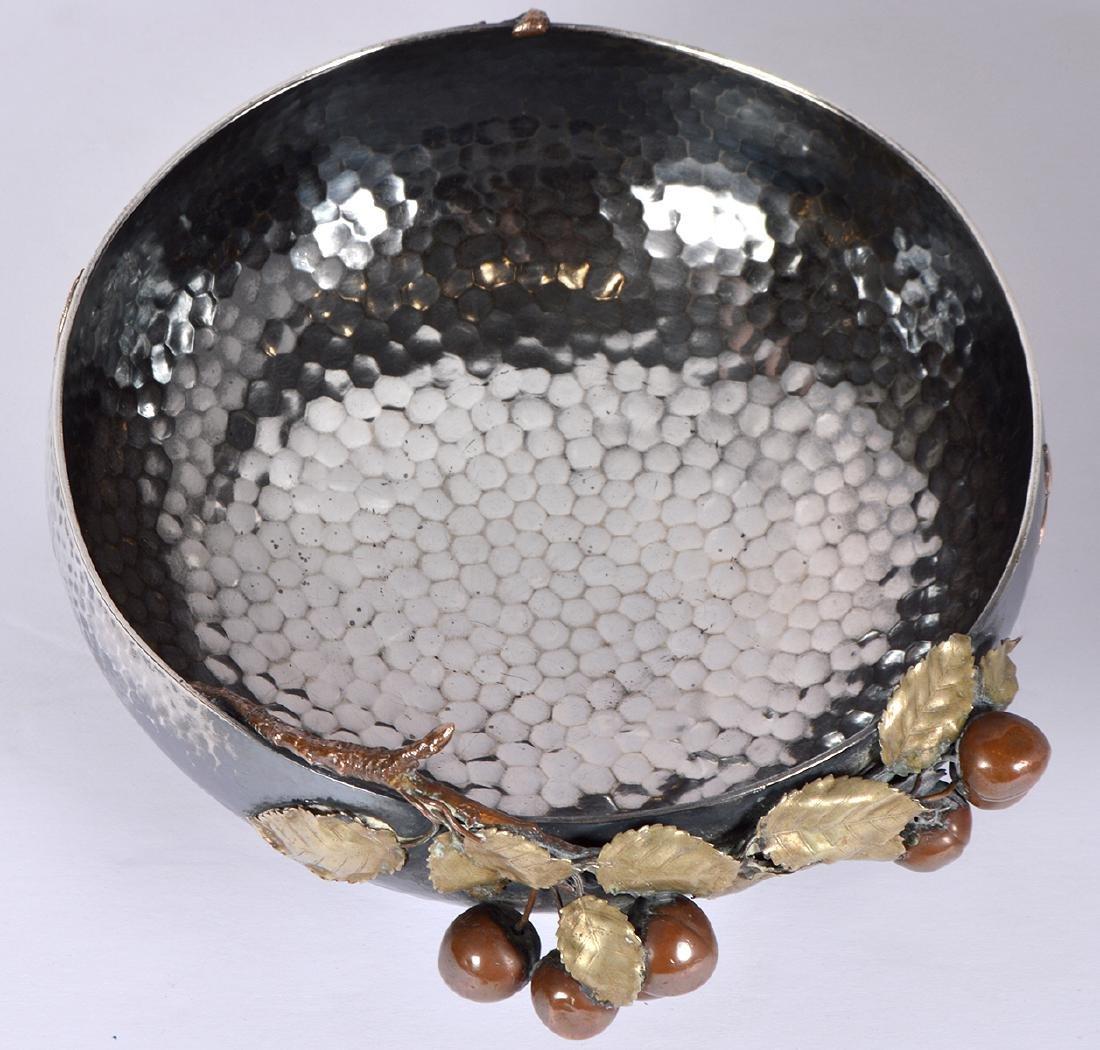 Gorham Sterling & Copper Hand Hammered Bowl - 9