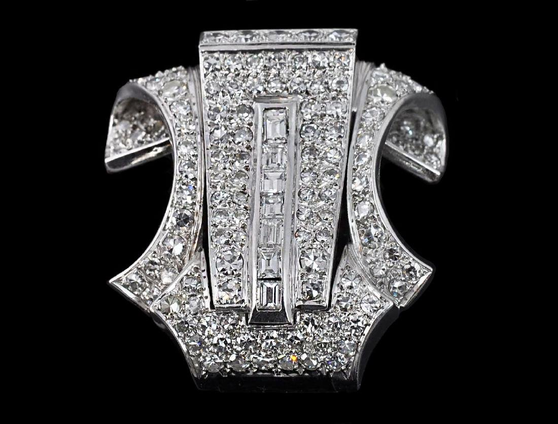 Platinum & Diamond Brooch