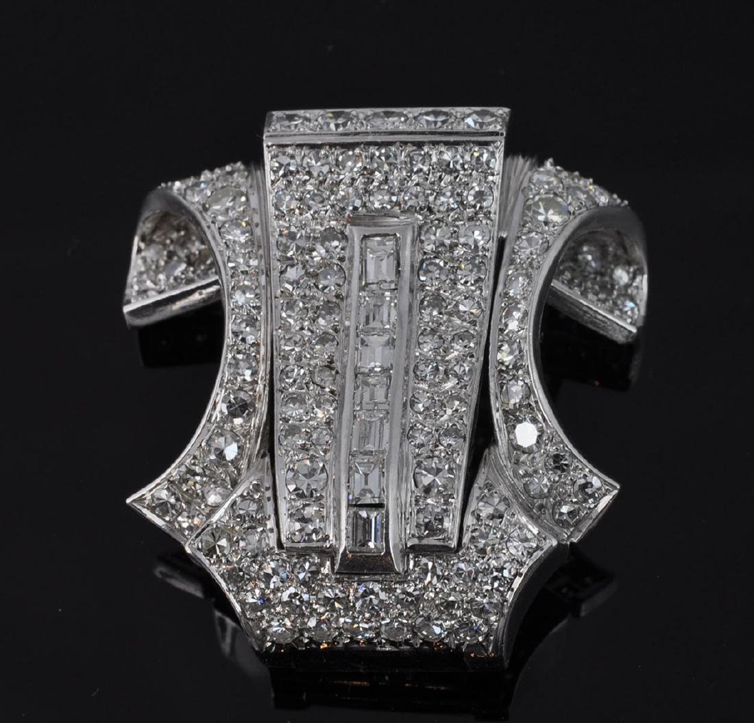 Platinum & Diamond Brooch - 2