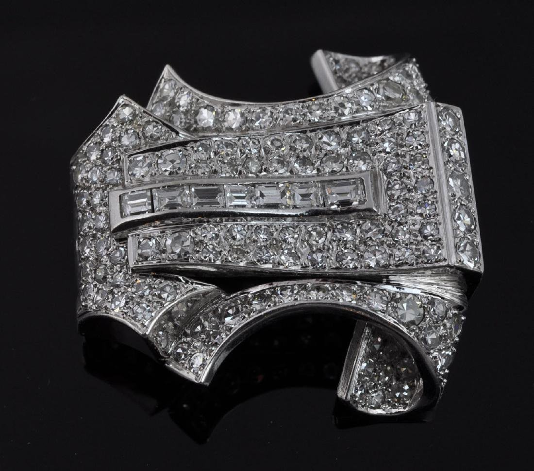Platinum & Diamond Brooch - 3
