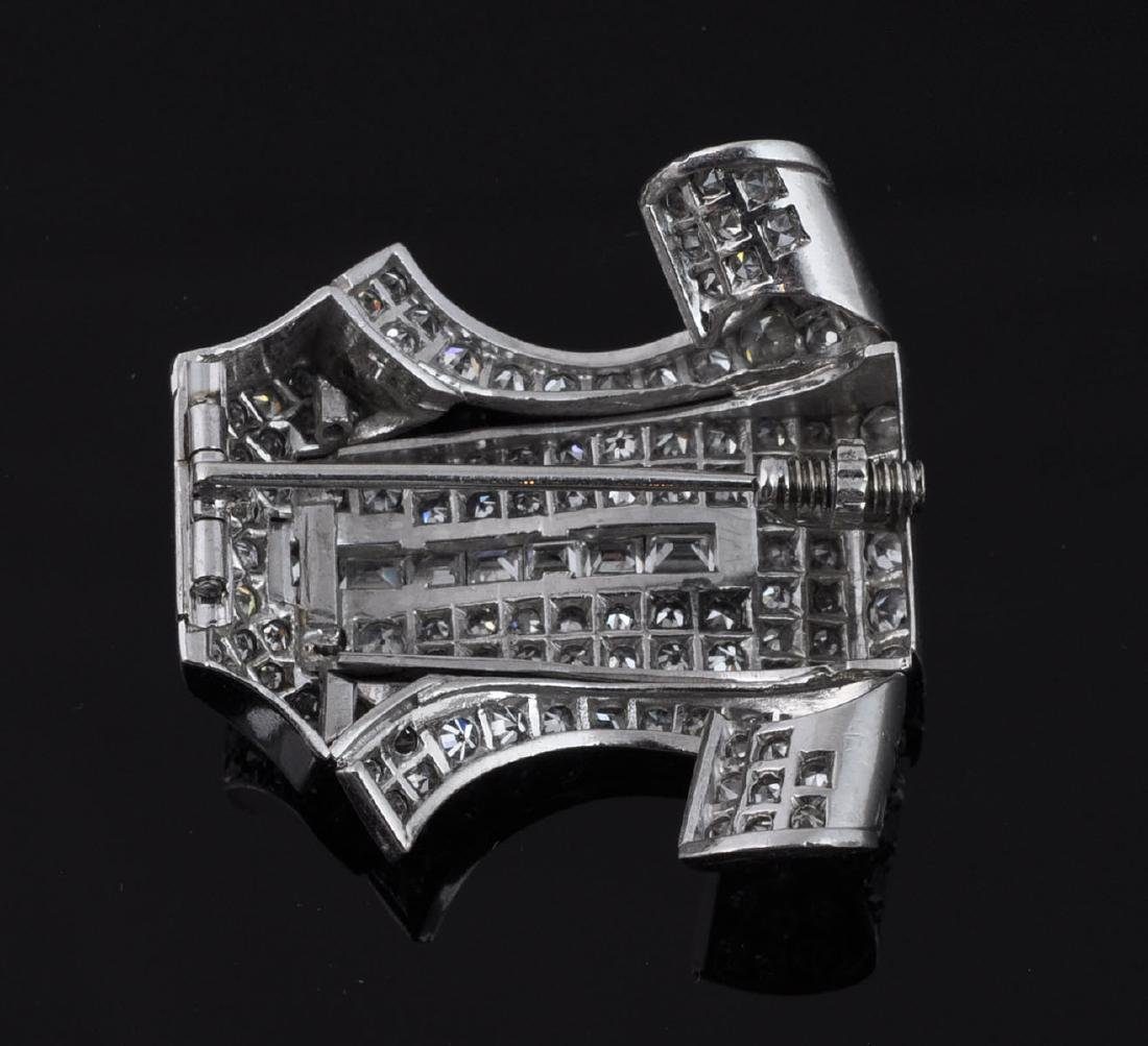 Platinum & Diamond Brooch - 4