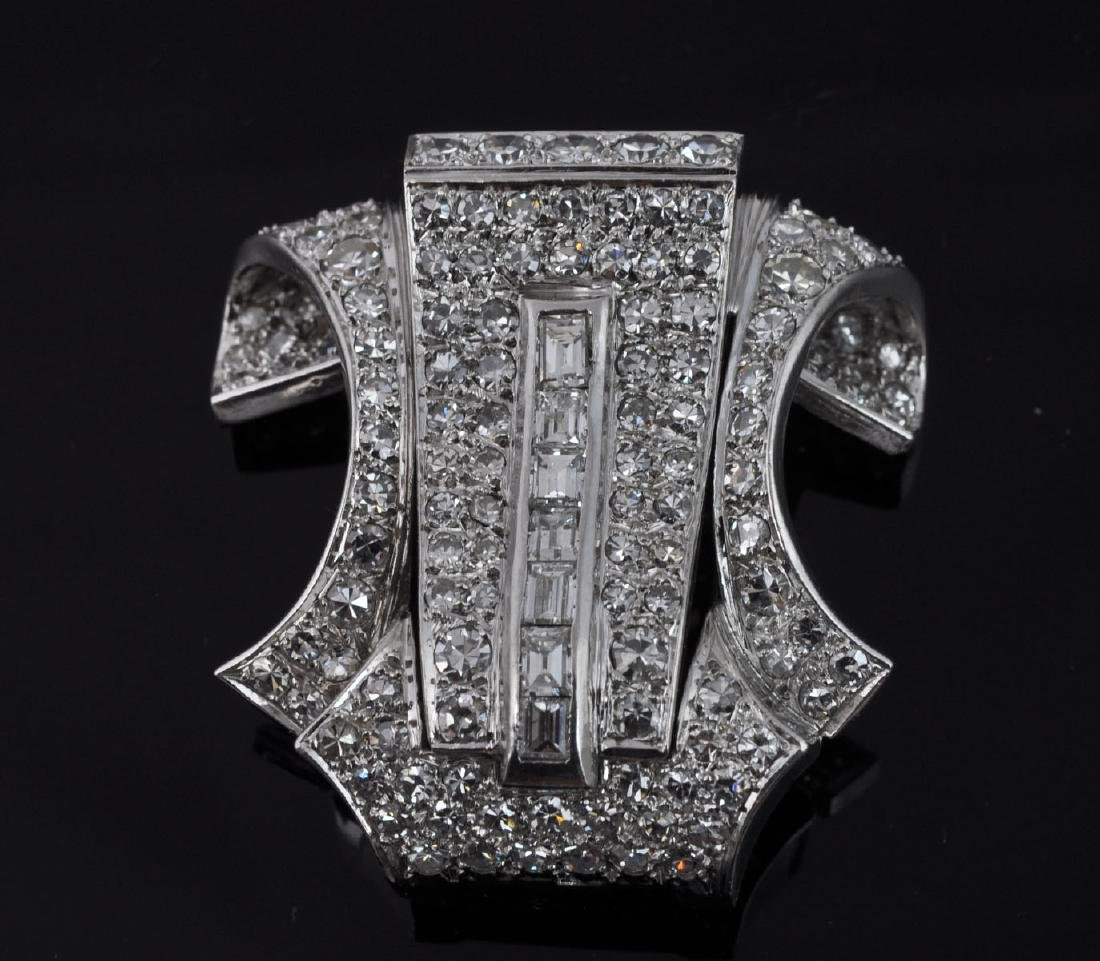Platinum & Diamond Brooch - 5