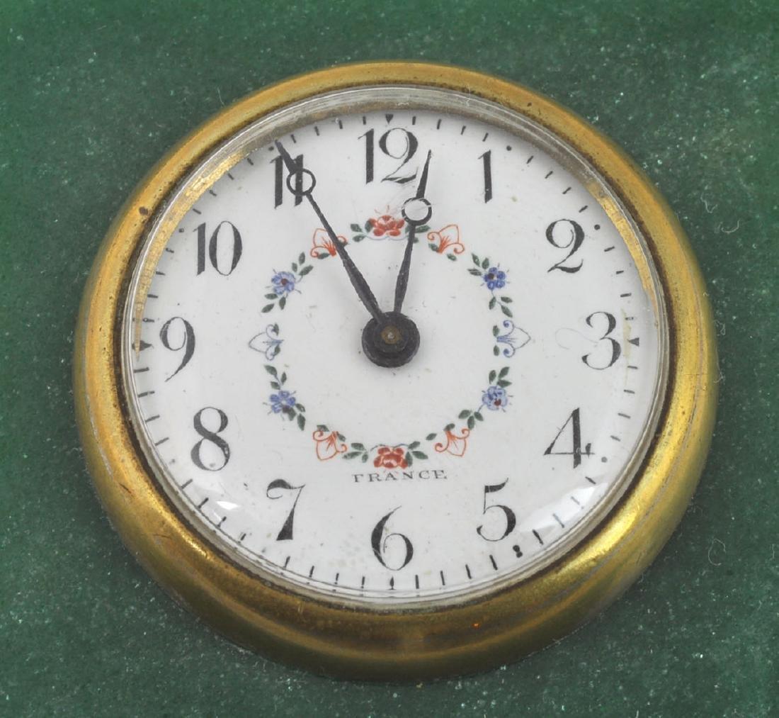 French Dreyfous Aventurine Silver Desk Clock - 4