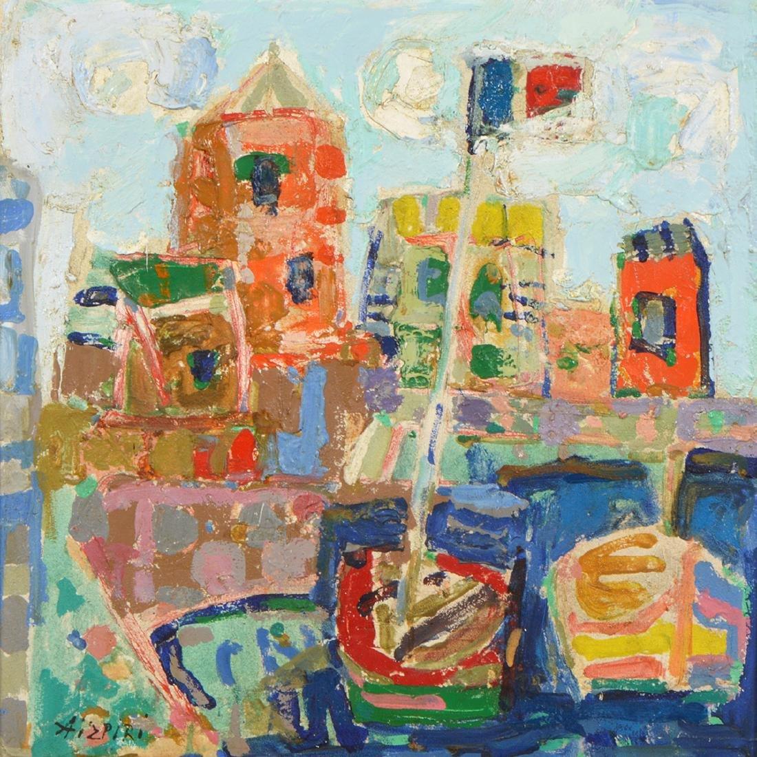 Paul Augustin Aizpiri 'Le Port' O/B