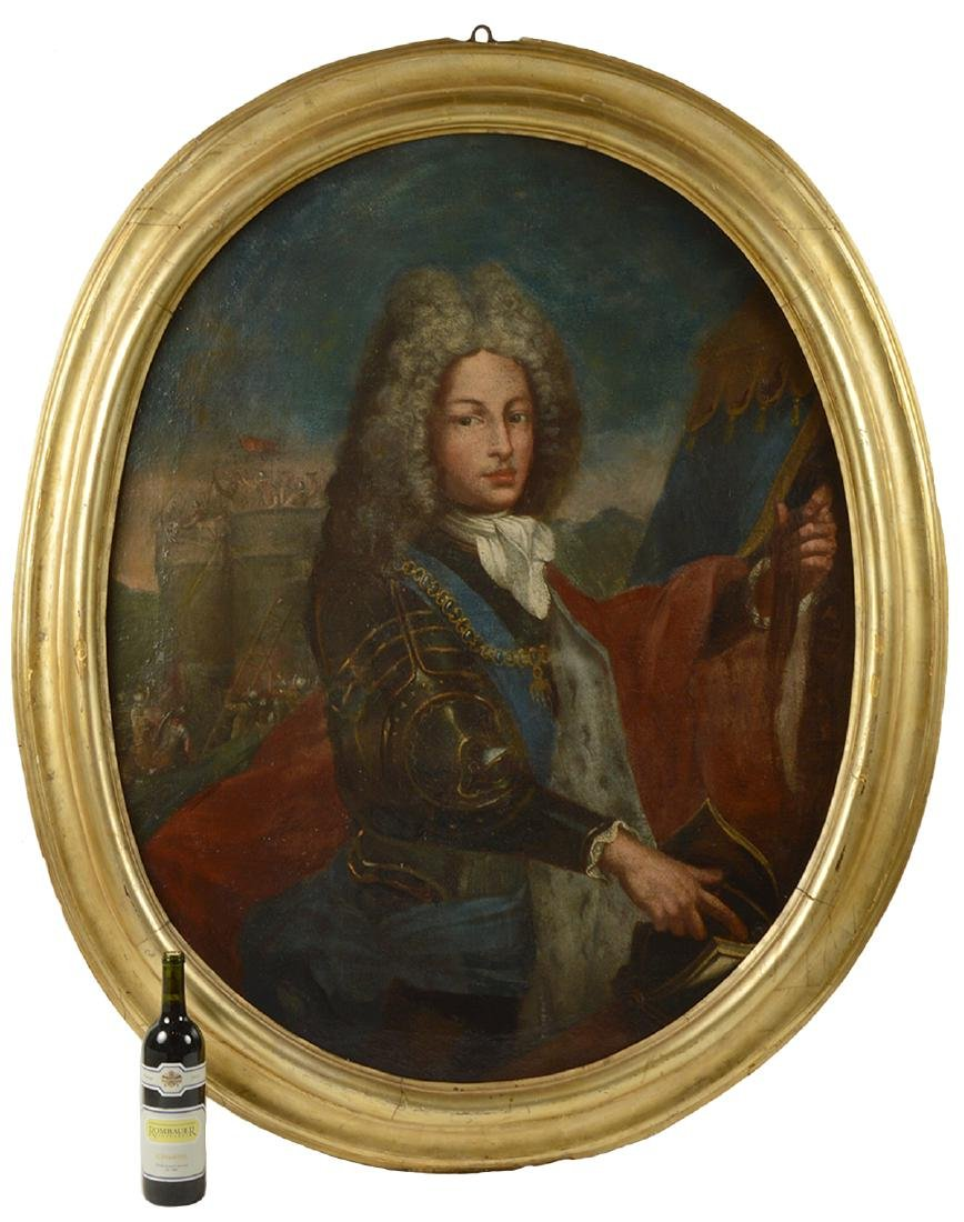 18/19th C. Continental Oval Portrait, O/C