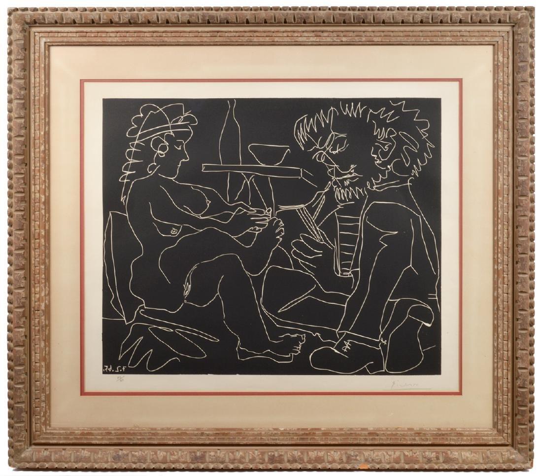 Pablo Picasso Linocut on Arches Paper
