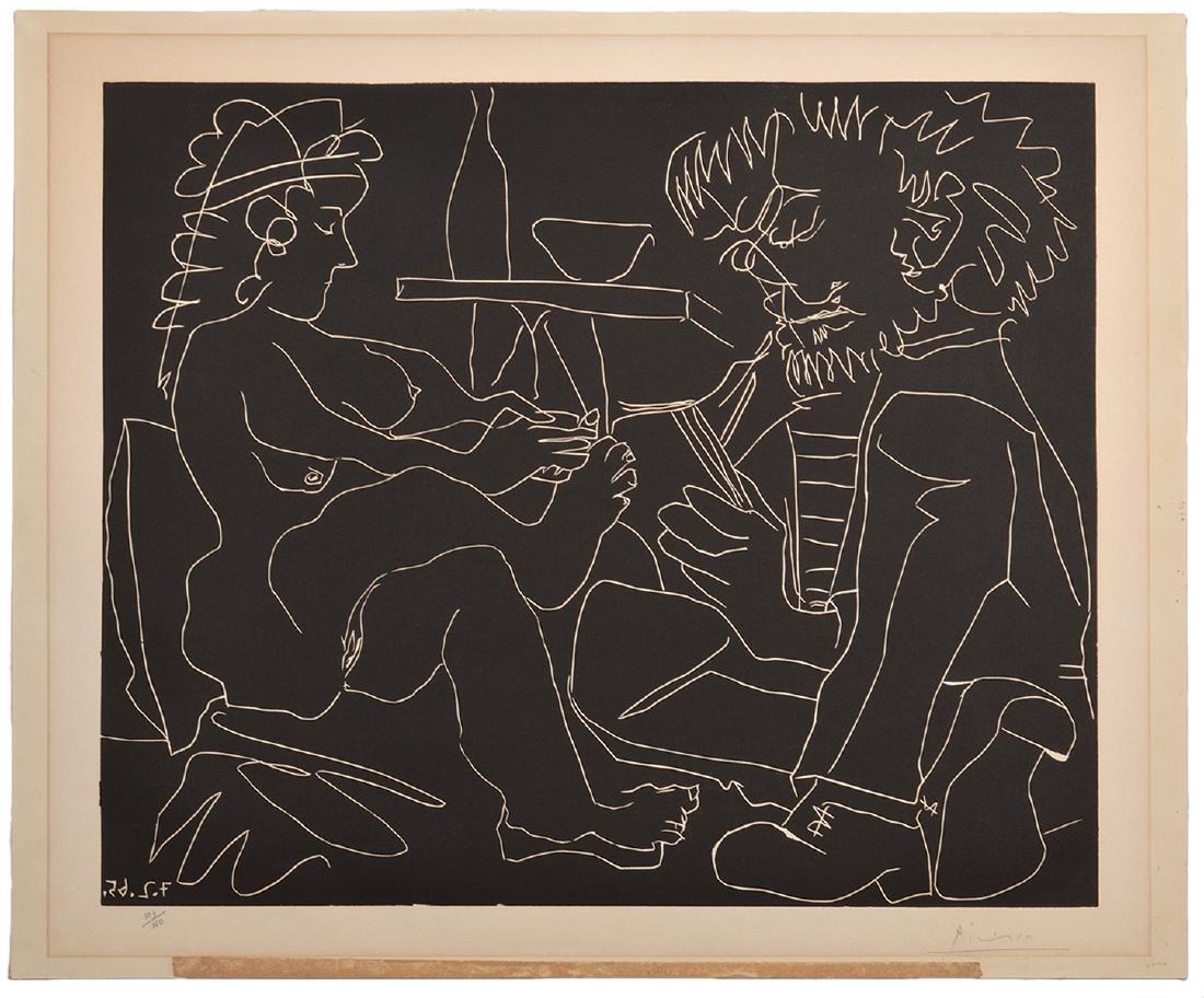 Pablo Picasso Linocut on Arches Paper - 2