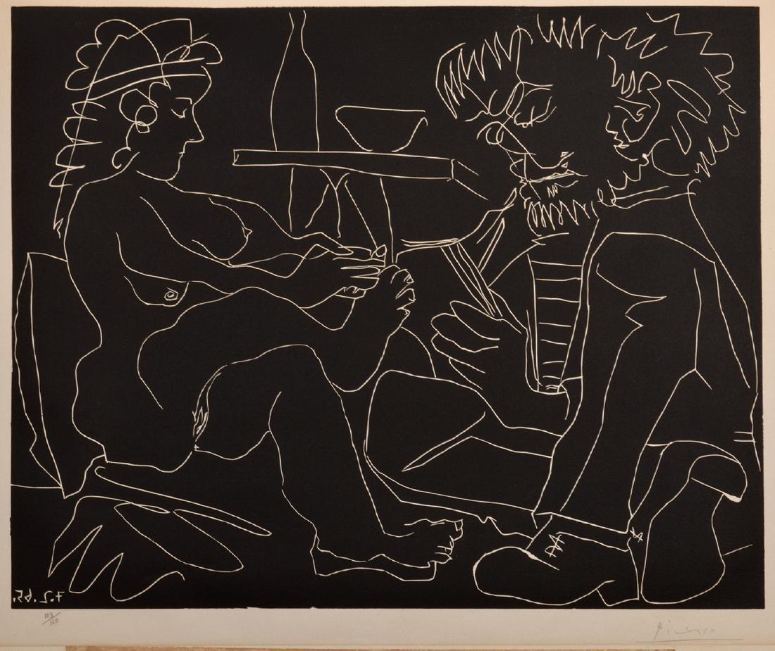 Pablo Picasso Linocut on Arches Paper - 3