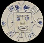 Large Pablo Picasso Madoura Visage Charger