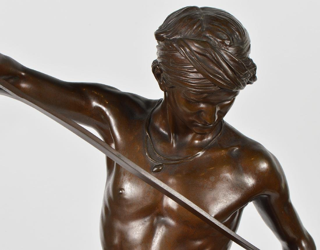Antonin Mercie Bronze 'David Slayer of Goliath - 2