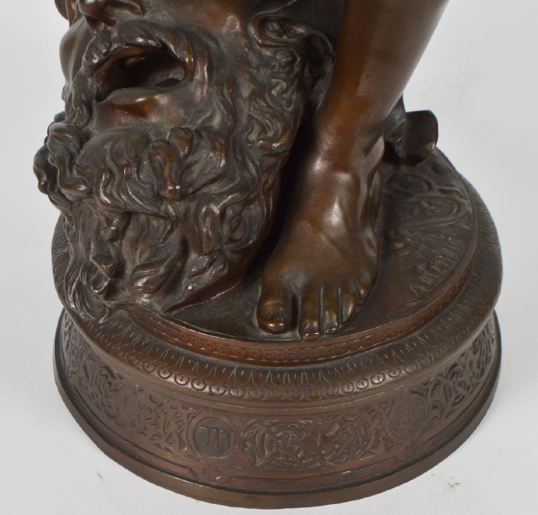 Antonin Mercie Bronze 'David Slayer of Goliath - 3
