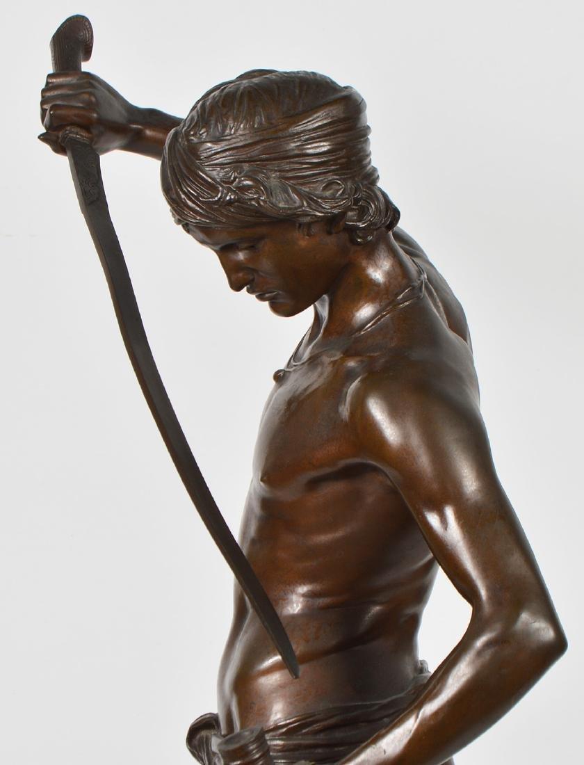 Antonin Mercie Bronze 'David Slayer of Goliath - 6