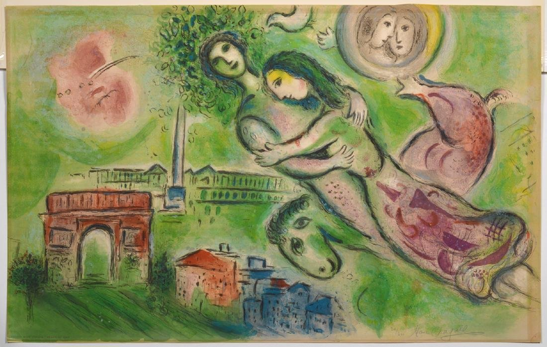 After Marc Chagall By Charles Sorlier Romeo &