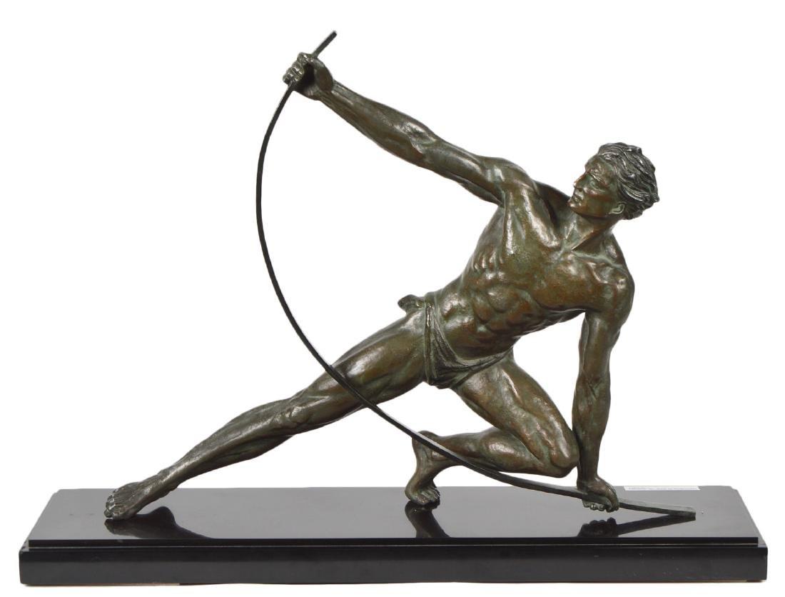 Jean de Roncourt 'Le Bendeur' Metal Sculpture