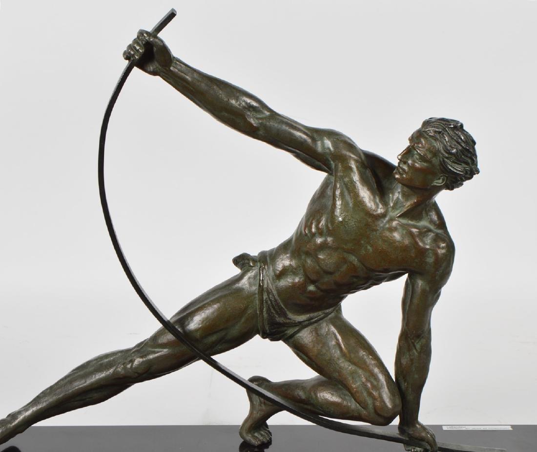 Jean de Roncourt 'Le Bendeur' Metal Sculpture - 2