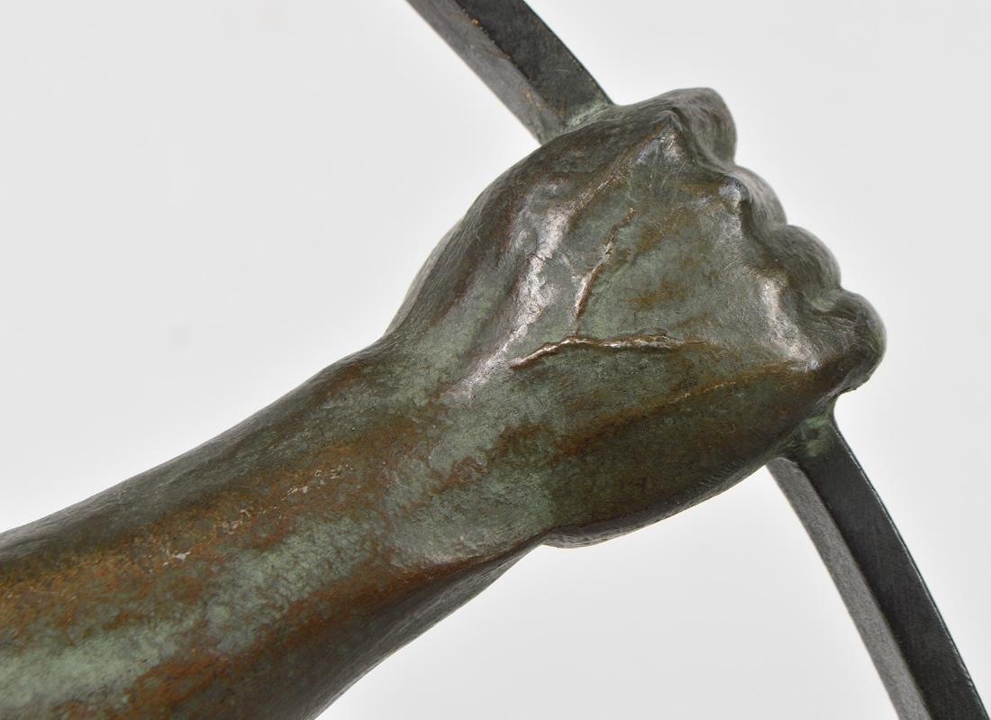 Jean de Roncourt 'Le Bendeur' Metal Sculpture - 8