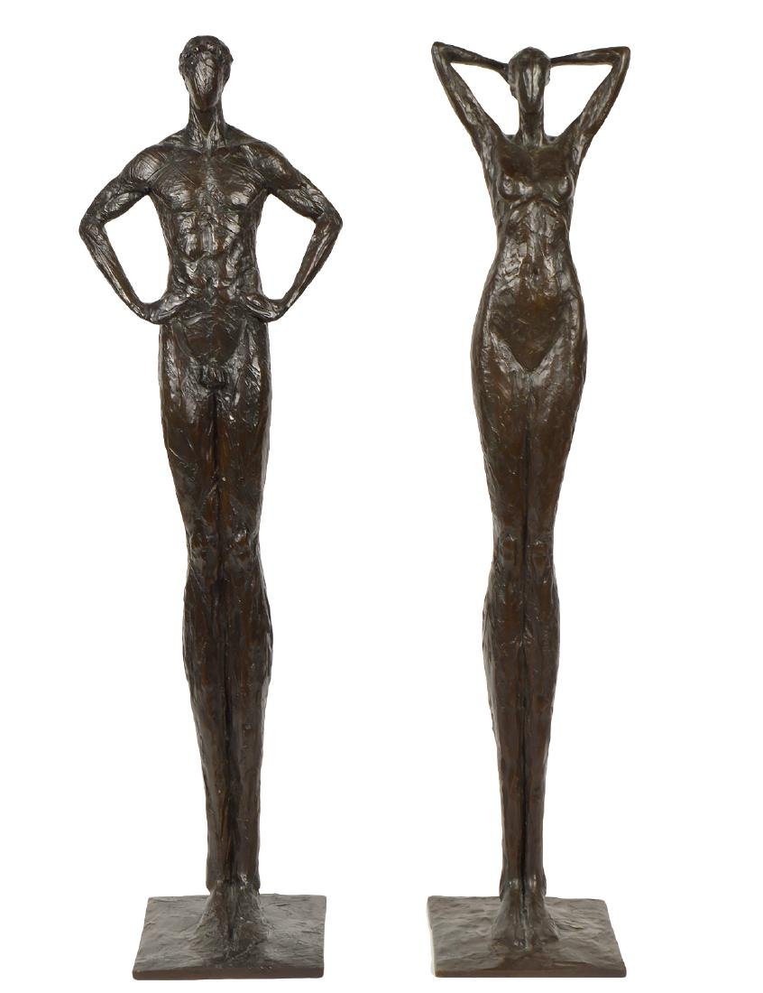 Tom Corbin Male & Female Bronzes Sculptures