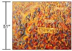 Quintus Jan Telting Civil Rights Painting 1966