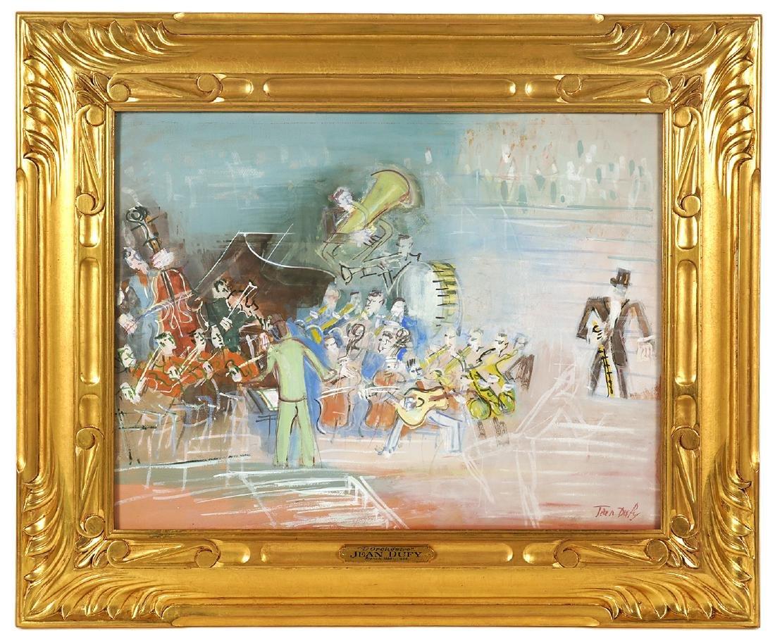 Jean Dufy 'L Ochestre' Gouache on Paper