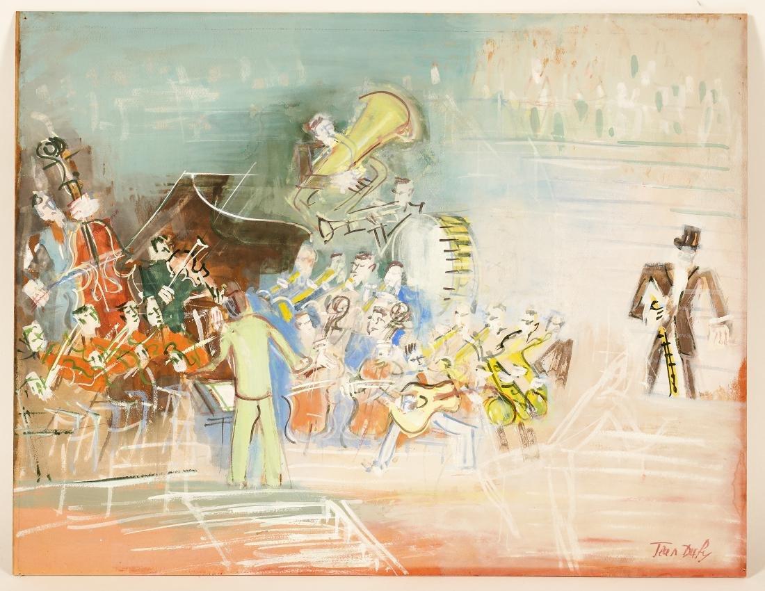 Jean Dufy 'L Ochestre' Gouache on Paper - 2