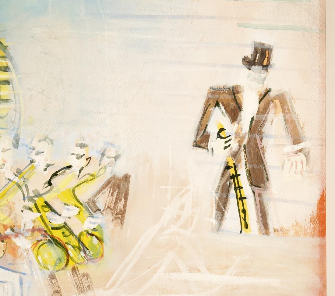 Jean Dufy 'L Ochestre' Gouache on Paper - 4